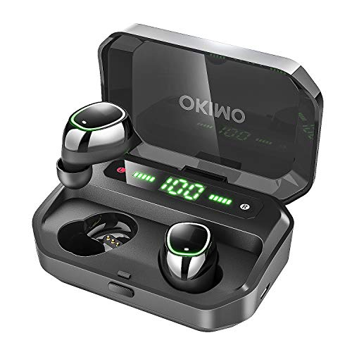 OKIMO Wireless Earbuds Bluetooth 5 Headphones with 3500mAh LED Charging Case, IPX7...