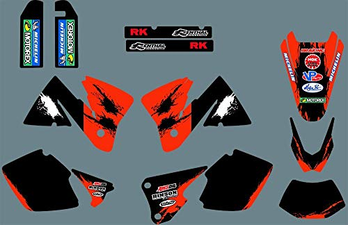 MXP Graphic Customized Dirt Bike Graphic Motocross Aufkleber Aufkleber für KTM MXC EXC 250 300 350 400 520 2001 2002