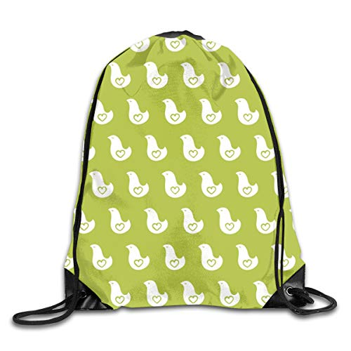 show best Birds Drawstring Gym Bag for Women and Men Polyester Gym Sack String Backpack for Sport Workout, School, Travel, Books 14.17 X 16.9 inch