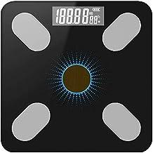ميزان الكتروني ذكي بشاشة عرض رقمية يحلل وزن الجسم ويحسب نسبة الدهون مزود بتطبيق للهاتف الذكي (لون اسود)