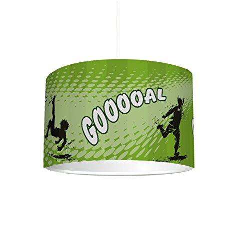 Stikkipix Kinderzimmer Lampenschirm Fußball KL11 | kinderleicht eine Fußball-Lampe erstellen | als Steh- oder Hängeleuchte/Deckenlampe | perfekt für Fußball-begeisterte Jungen & Mädchen