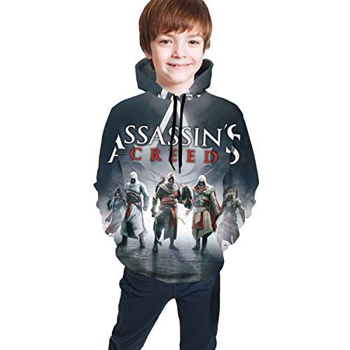 Assassin's-Creed Kids/Youth Boys Girls Hoodie Hooded Teen Sweatshirt Pullover Big Pocket Teen