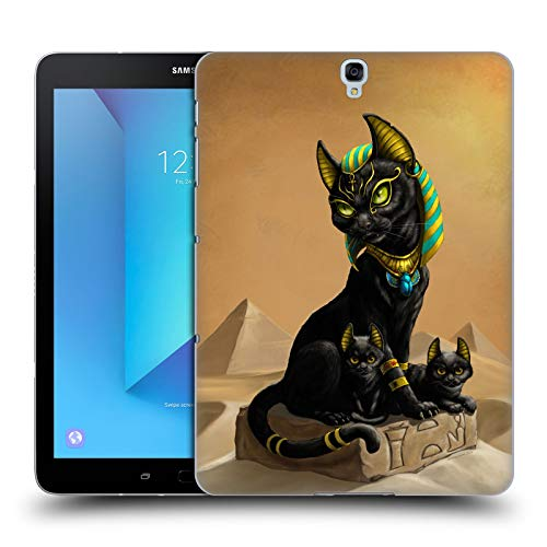 Head Case Designs Officially Licensed Stanley Morrison Egyptian Black Cat and Kittens Creatures Hard Back Case Compatible with Samsung Galaxy Tab S3 9.7