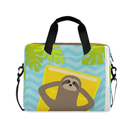 Laptoptasche Affe Gelb Air Pool Aktentasche Computer Tragetasche 16 Zoll Notebook Sleeve Cover mit Griff Multi Taschen niedliches Design