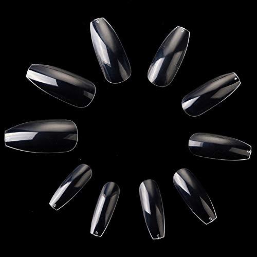500 Stück Durchsichtig Künstliche Fingernägel Falsche-Fingernägel Kunstnagel Nagel Fake Nägel Nagelspitzen für DIY-Nagelkunst und Nagelstudios, 10 Größen