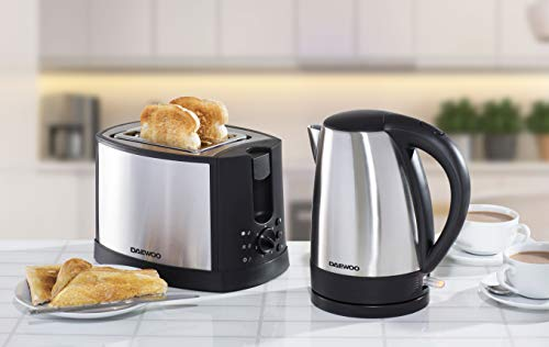 Daewoo Stainless Steel Kettle and Toaster Set