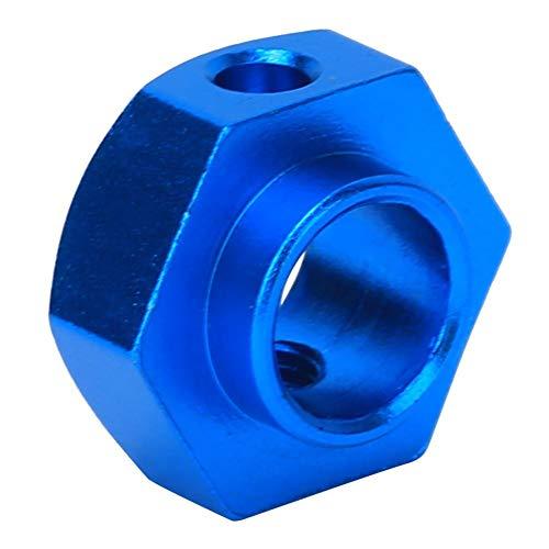 Eulbevoli Adaptador de Ejes hexagonales de Rueda, Adaptador Hexagonal Ligero RC para Coche RC(Blue 8269B)