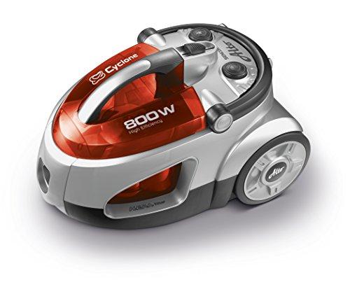 Sencor SVC 730RD Aspirapolvere Senza Sacchetto, 800 W [Classe di efficienza energetica, Rosso