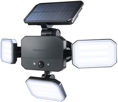 BIONIC FLOODLIGHT by Bell+Howell Solar-powered, Motion-sensing Lighting, Outdoor/Out All-season with 108 High power LED Bulbs in Adjustable Panels – w/ Remote Control for Easy Activation As Seen On TV