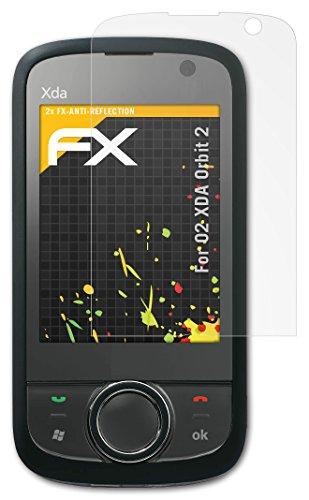 atFoliX Bildschirmschutzfolie O2 XDA Orbit 2 (2 Stück) - FX-Antireflex, antireflektierende Premium Schutzfolie