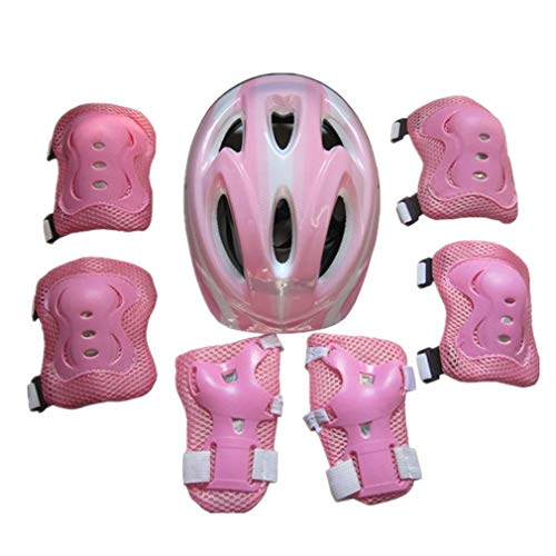 Galaga Equipo de Protección para Patines,Bicicleta, Monopatín,Protectores 7 PCS,Casco,Almohadillas de Codo, Rodilleras para niños