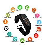 SBA999 ABM403 M4 Bluetooth Wireless Smart Fitness Band for Boys/Men/Kids/Women | Sports Watch Compatible with Xiaomi, Oppo, Vivo Mobile Phone | Heart Rate and BP Monitor, Calories Counter