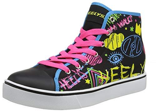 *Heelys Damen Veloz Hohe Sneaker, Schwarz (Black/Rainbow/Scribble Black/Rainbow/Scribble), 38 EU*