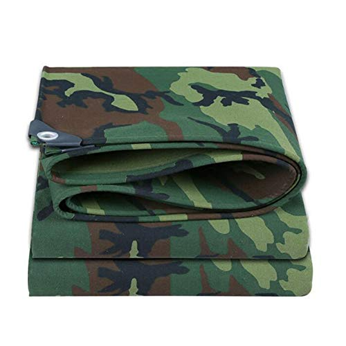 Dall bâche Camouflage Toile Épais Tissu De Pluie Imperméable Protection Contre Le Soleil (Couleur : Vert, Taille : 3×3m)