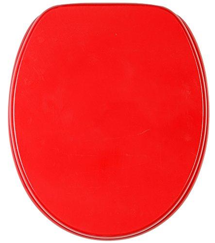 WC Sitz, hochwertige Oberfläche, einfache Montage, stabile Scharniere, Rot