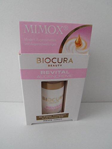 Biocura REVITAL Augencreme miit Argamäö. Traubenkenöl u.Coenzyn Q10