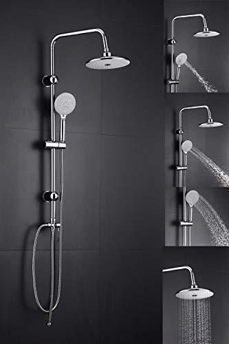 Duscharmatur Duschsystem Regendusche Duschset Dusche Handbrause Komplettsysteme mit 3 Strahlarten höhenverstellbare Duschsäule für Bad