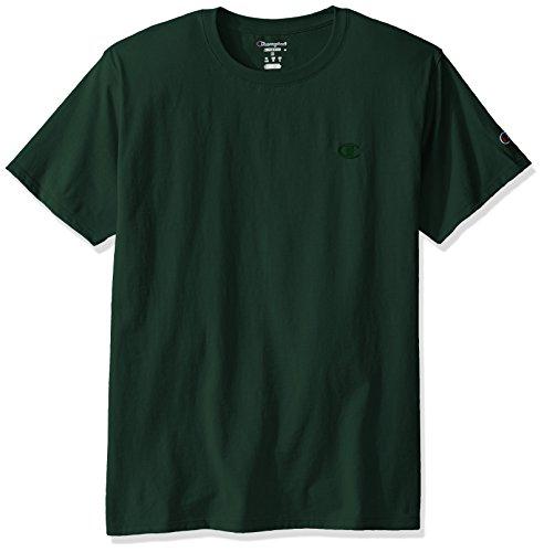 Champion Herren Classic Jersey T-Shirt Hemd, dunkelgrün, Klein