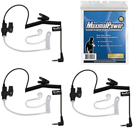 MaximalPower RHF 617 1N 3 5mm Receiver Listen ONLY Surveillance Headset Earpiece with Clear product image