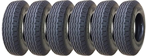 6 Zeemax Heavy Duty Highway Trailer Tires 8-14.5 14PR Load Range G- 11067