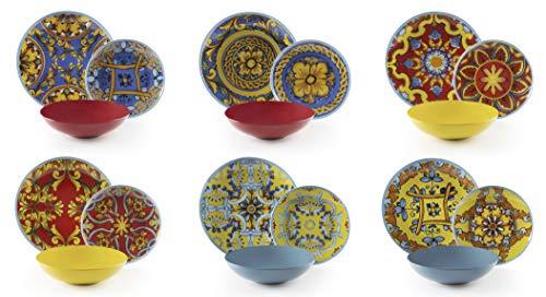 Excelsa Trinacria Servizio Piatti 18 Pezzi, Porcellana e Ceramica