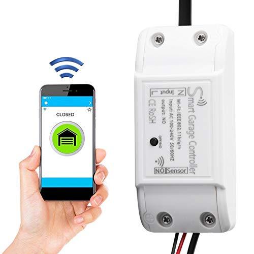 Garage Door Controller Smart WiFi Remote Compatible Abridor de puerta de garaje APLICACIÓN Dispositivo de control Soporte para Alexa Google(eu)