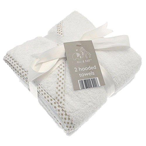 2suave blanco Elli Raff bebé capucha toalla baño