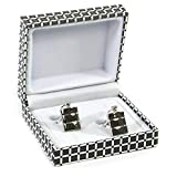 Black Ginger Hip Flask Cuff Links - Stylish Classic Man Gift