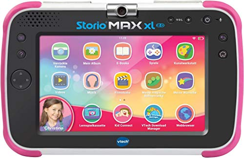 VTech Storio MAX XL 2.0 Lerntablet Tablet für Kinder Kindertablet, Rosa, Deutsch Version