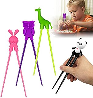 ALLYAOFA Training Chopsticks for Kids Adults and Beginners, Easy to Use Training Chopsticks Multi Animal Style Design Lear...