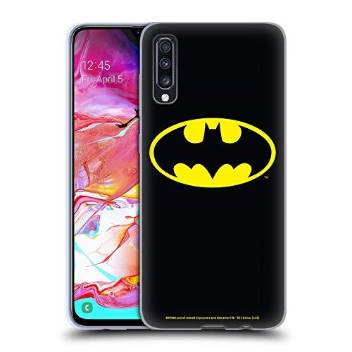 Head Case Designs sous Licence Officielle Batman DC Comics Classique Logos Coque en Gel Doux Compatible avec Samsung Galaxy A70 (2019)