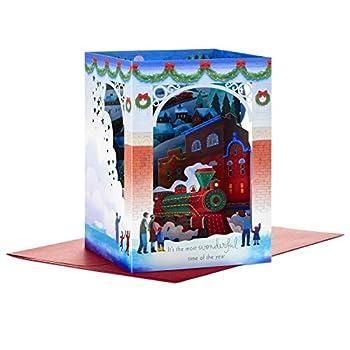 Hallmark Paper Wonder Pop Up Christmas Card  Christmas Train  Christmas Train Pop Up 899XXH5057