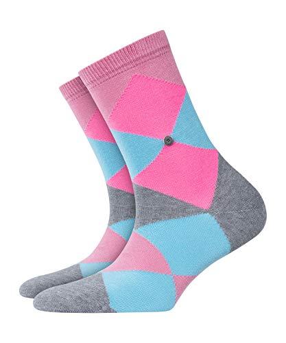 BURLINGTON Damen Socken Neon Bonnie - Baumwollmischung, 1 Paar, Rosa (English Rose 8731), Größe: 36-41