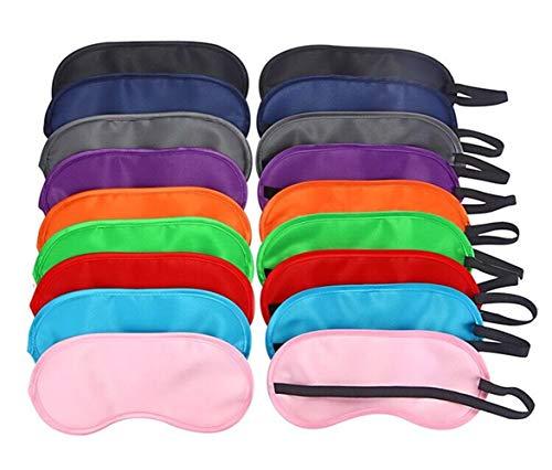 Schlaf Augenklappe,9 Stück Multicolor Augenmaske mit Augenbinde Schlafmaske Bunte Augenmaske für Travel Sleep Party Team Game Supplies
