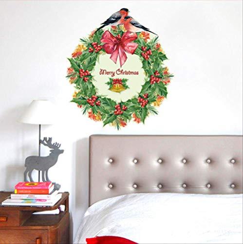 Muursticker kerstkrans slaapkamer woonkamer deuren en ramen Kerstmis decoratieve muursticker