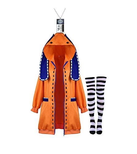 TopOneer Anime Kakegurui Runa Yomozuki Cosplay Hoodie Costume Jacket Outfit Halloween for Women Adult Kid (Large, Orange)