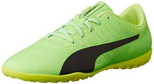 Puma EvoPower Vigor 4 TT Jr, Unisex-Kinder Fußballschuhe, Grün (Green Gecko-puma Black-Safety Yellow 01), 38 EU (5 Kinder UK)