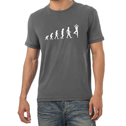 Texlab Yoga Evolution - Herren T-Shirt, Größe S, Grau