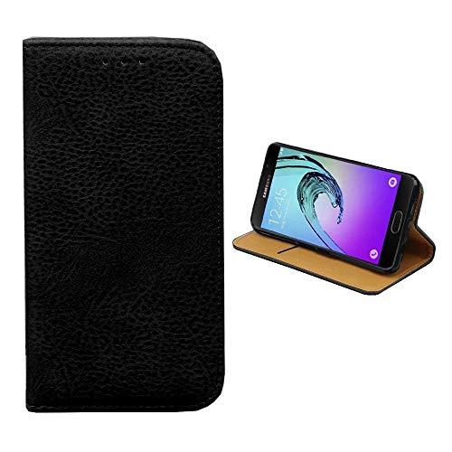 Funda tipo libro para Samsung J5 2016 (piel sintética), color negro