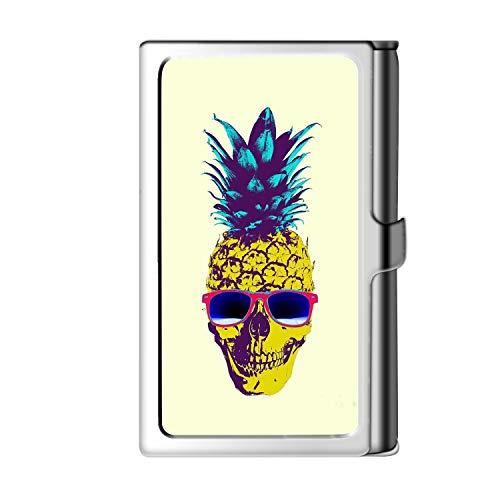 Portarretrato de tarjeta de visita Design Sliver, caja de crédito con nombre de cartera de acero inoxidable para hombres y mujeres-Piña