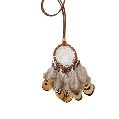 Wind Chimes Gekleurde Vintage Kralen Kwastjes Droom Catcher Ketting Indische Handgemaakte Dames Sieraden Mini Hanger Hangend Decor