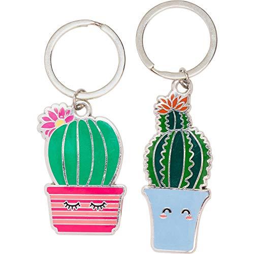 Gruss und Co 46165 Schlüsselanhänger-Set, 2 Kaktus-Anhänger, Geschenk für Freunde