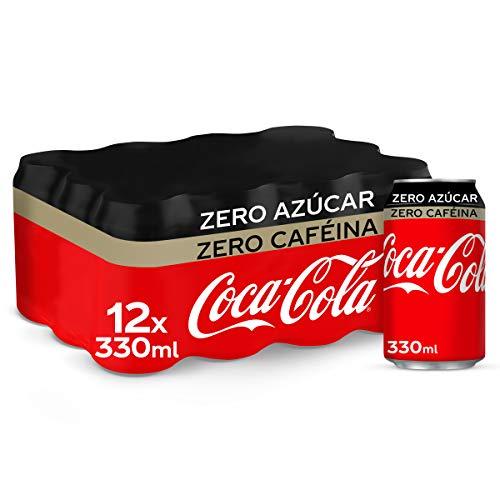 Coca-Cola Zero Azúcar Zero Cafeína Lata - 330 ml (Pack de 12)