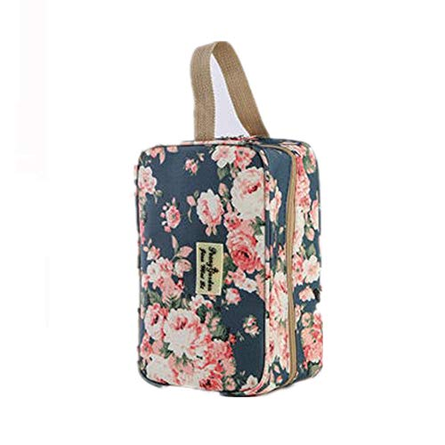Travel Makeup Bag,Portable Waterproof Cosmetic Bag Outdoor Travel Storage Bag,Blue,27 * 10 * 16CM