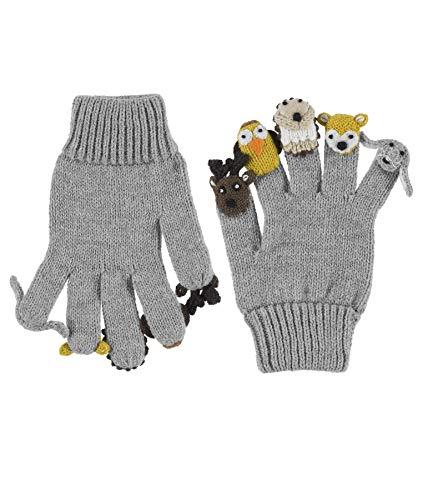 Döll Unisex Baby Fingerhandschuhe Strick Handschuhe, Grau (Light Gray Melange|Gray 8100), XL (Herstellergröße: 4)