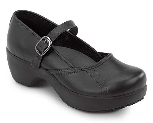 SR Max Vienna Women's Black Mary Jane Clog Style Slip Resistant Soft Toe Work Shoe (5.5 M)
