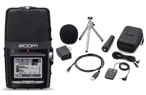Zoom H2n Handy Handheld Digital Multitrack Recorder Bundle with APH-2n Accessory Pack