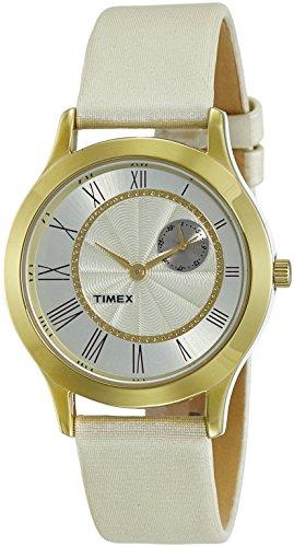 Timex - Reloj analógico con esfera blanca para mujer (TW000Q813)