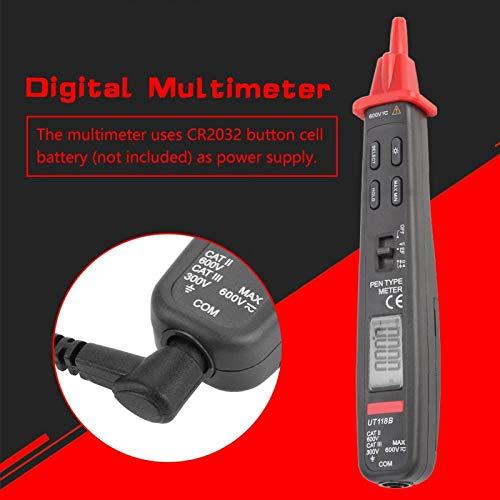 Amperometro digitale Multimetro Voltmetro Volt Ohm Meter Ohmmetro per elettricisti con display retroilluminato LCD Sensibilità regolabile