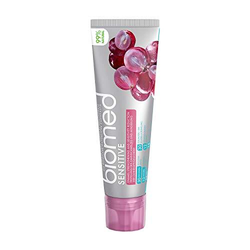 BIOMED Sensitive fluoridfreie Zahnpasta gegen empfindliche Zähne mit 99% natürlichen Inhaltsstoffen, 100 g